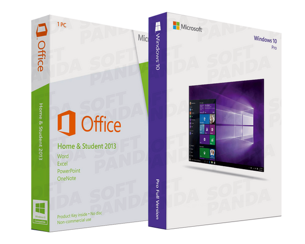 Windows 10 Pro & Office 2013 Famille Etudiant
