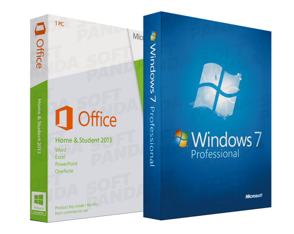 Windows 7 Professionnel & Office 2013 Famille étudiant