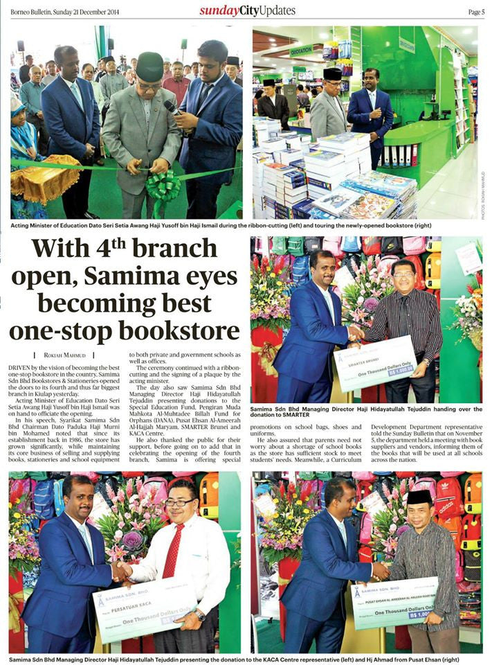 Borneo Bulletin article about the opening of our 4th branch