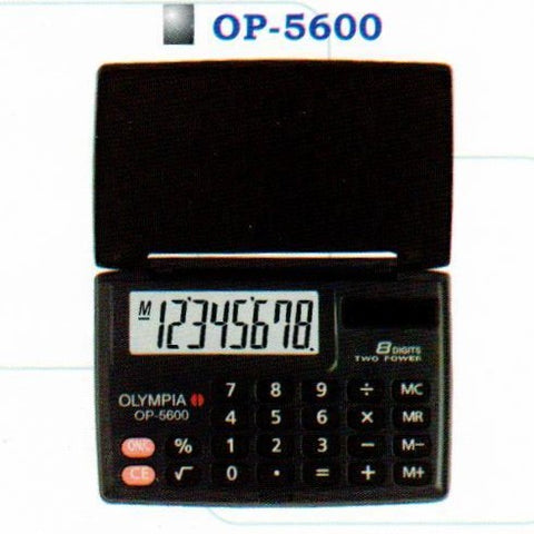 OLYMPIA POCKET CALCULATOR  OP-5600 ASST COLOURS