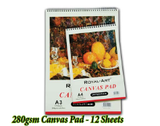 Canvas Pad -  12 Sheets