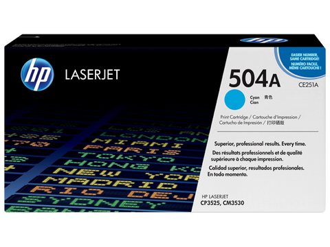 HP 504A TONER CARTRIDGE CYAN CE251A
