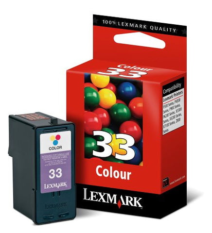 LEXMARK 33 COLOUR CATRIDGE