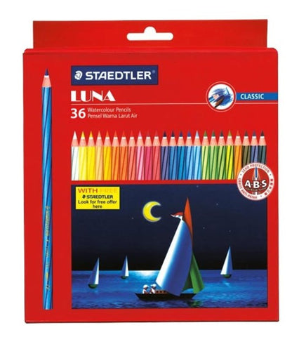 STAEDTLER LUNA WATER  COLOUR PENCILS 137 10 C36