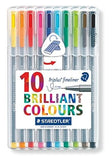 STAEDTLER TRIPLUS 10 BRILIANT COLOURS10'S 334 SB10