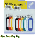 6 pcs Pack Key Tag