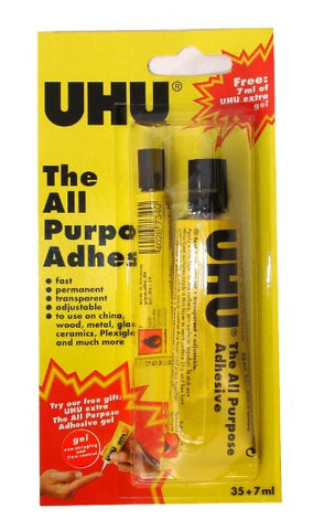 UHU ALL PURPOSE ADHESIVE 35+7ML  40063