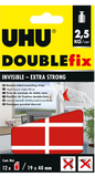 UHU DOUBLE FIX INVISIBLE-EXTRA STRONG 19 X 40 MM