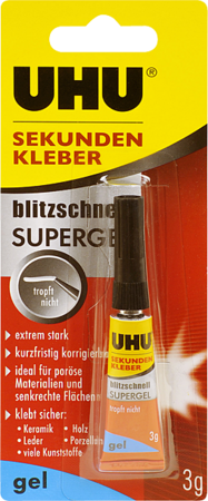 UHU SUPERV GLUE GEL 3G