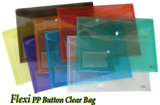 Flexi PP Button CLear Bag