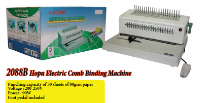 2088B Hopu ELectric Comb Binding Machine