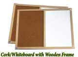 Cork/Whiteboard with Wooden Frame