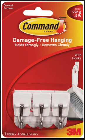 3M COMMAND SMALL WIRE HOOKS - 17067