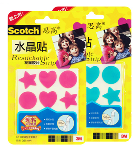 3M Scotch Restickable Shapes R100CS