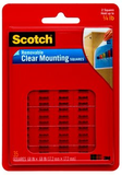 3M Scotch Removable Clear Mounting Squares