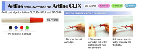 Artline REFILL CARTRIDGE FOR Artline CLIX   EK-573AR