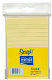 Scripti Stick On Pad With Line 50646