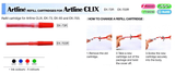 Artline Refill Cartridges For Artline Clix EK-73R / EK-703R