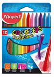 Maped 12pcs Smart Plastic Crayons 862011