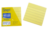 Scripti Stick On Pad With Line 50336