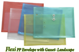 Flexi PP Envelope with Gusset-Landscape
