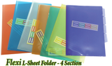 Flexi L-Sheet Folder - 4 Section