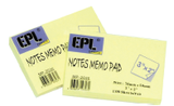 "EPL Notes Memo Pad 3"" x 2"""