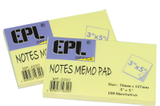 "EPL Notes Memo Pas 3"" x 5"""