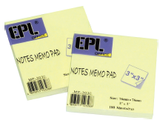 "EPL Notes Memo Pad 3"" x 3"""