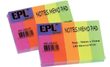 "EPL Notes Memo Pad 6/10"" x 2"""