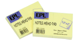 "EPL Notes Memo Pad 1.5"" x 2"""