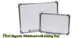 Flexi Magnetic Whiteboard with Folding Tray