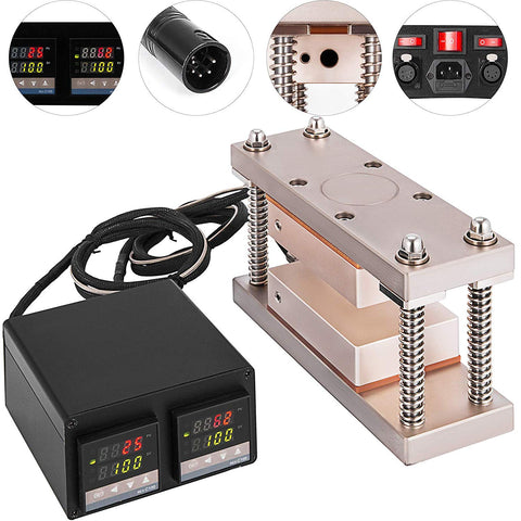 Digital Display Rosin Press Plates Temperature Controller Box 600W Rosin Cage Kit