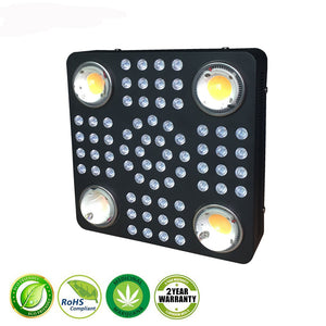 1000W led weed grow light IP54 66pcs 5W 4pcs CXB  2850umol/30cm