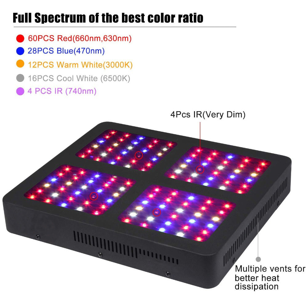 1200w led grow light tent heater indoor weed growing flower seedling flowers lamp plant low watt
