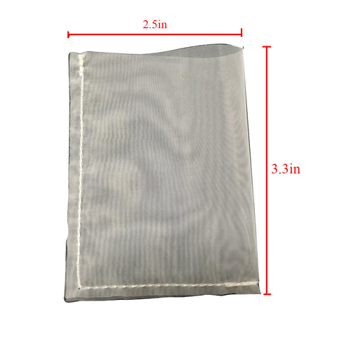 Rosin Press micron bags 2.5x3.3in 120u micro 10pcs 1pk