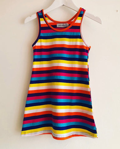 Cerise Solita Striped Dress