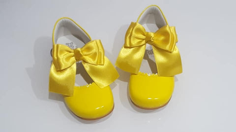 Yellow Bow Bambi Mary Jane Shoes