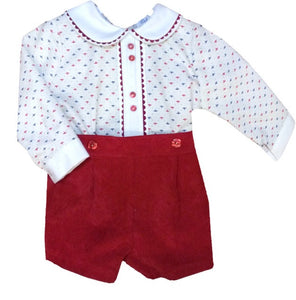 Red Jose Shorts Set