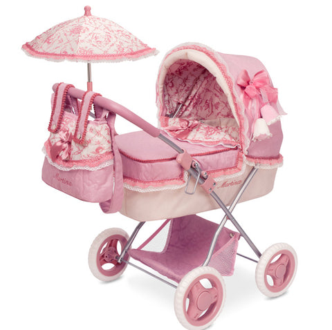 Pink Martina Dolls Foldable Pram