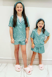 Green Amanza Short Pyjama's 3 Piece Set
