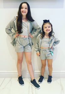 Grey Sicily 3 Piece Shorts Set