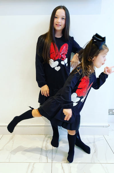 Black Minnie Jumper Dress