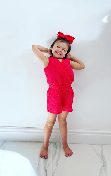 Red Kensley Playsuit