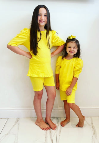 Yellow Delilah Shorts Set