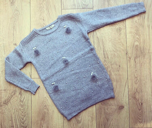 Grey Petra Knit Jumper Dress