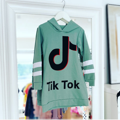Green Tik Tok Jumper Dress