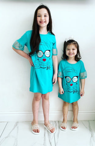Green Girl Boss TShirt Dress