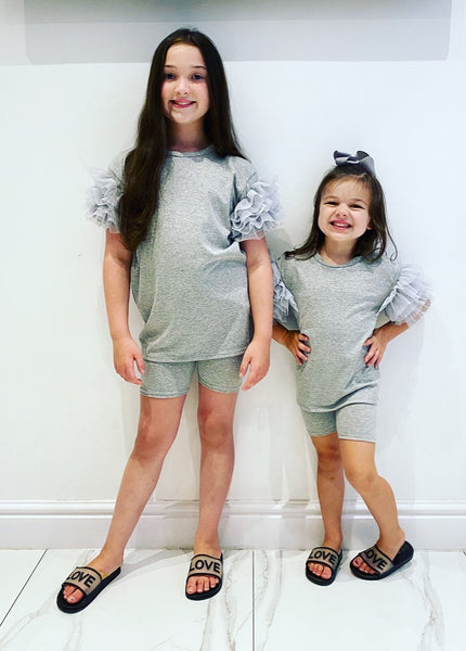 Grey Kimora Shorts Set