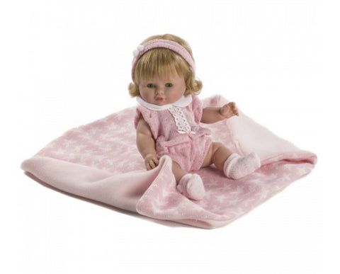 Spanish Girl Doll with Star Blanket